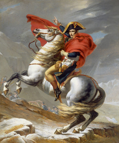Napoleon Crossing the Alps, 1802 -  Jacques Louis David - McGaw Graphics