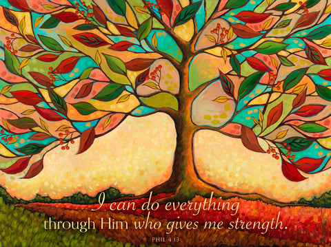 Tree Splendor II (I can do everything through Him...) -  Peggy Davis - McGaw Graphics
