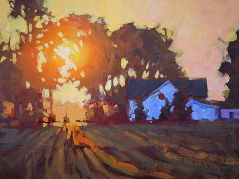 Sunrise Over Farmhouse -  Jed Dorsey - McGaw Graphics