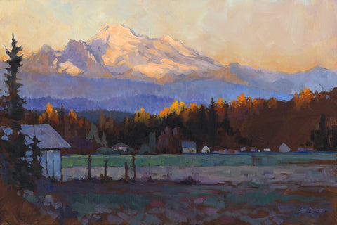 Late October Light Mt. Baker -  Jed Dorsey - McGaw Graphics