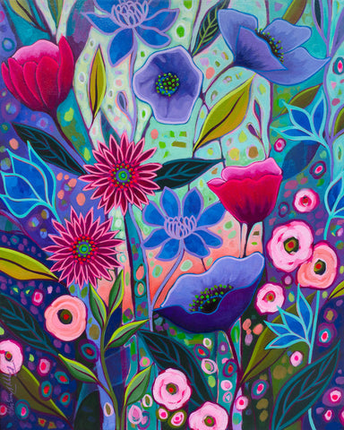 Peggy Davis - Purple Blossoms I
