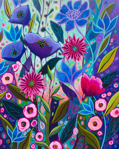 Peggy Davis - Purple Blossoms II
