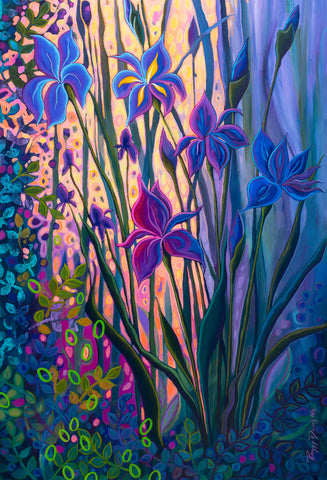 Peggy Davis - Evening Iris