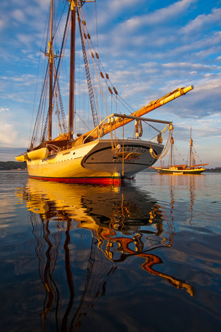 Schooner Mary Day at Dawn, Rockland, Maine -  Jim Dugan - McGaw Graphics
