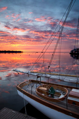 Schooner Olad Stern and Sunrise, Rockland Maine -  Jim Dugan - McGaw Graphics