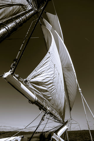 Mary Day Headsails Northbound, Penobscot Bay, Maine -  Jim Dugan - McGaw Graphics