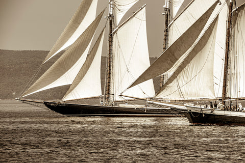 The Great Schooner Race: Columbia and Grace Bailey, Penobscot Bay, Maine -  Jim Dugan - McGaw Graphics