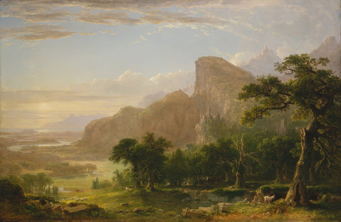 "Landscape—Scene from ""Thanatopsis"", 1850 -  Asher B. Durand - McGaw Graphics"