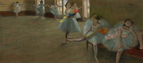 Dancers in the Classroom, c. 1880 -  Edgar Degas - McGaw Graphics