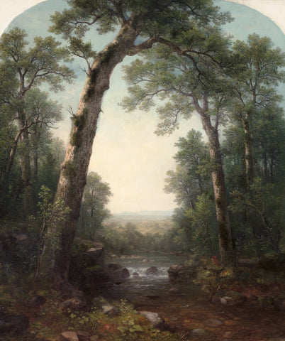 Forest Stream with Vista, 1872 -  Asher B. Durand - McGaw Graphics