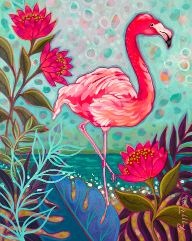 Flamingo Beach I -  Peggy Davis - McGaw Graphics