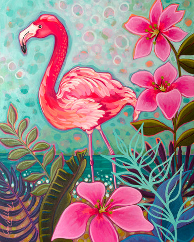 Flamingo Beach II -  Peggy Davis - McGaw Graphics