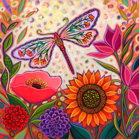 Dragonfly Floral -  Peggy Davis - McGaw Graphics