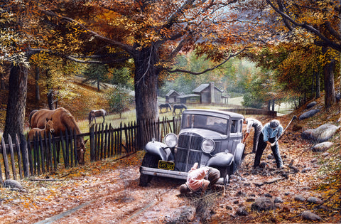 The Old Depot Road -  Kevin Daniel - McGaw Graphics