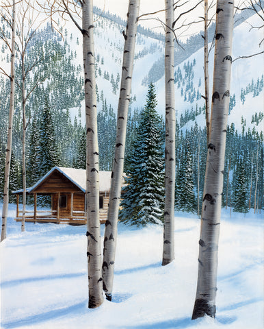 Snowy Retreat -  Kevin Daniel - McGaw Graphics