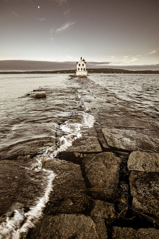 Moon Tide, Rockland Breakwater -  Jim Dugan - McGaw Graphics