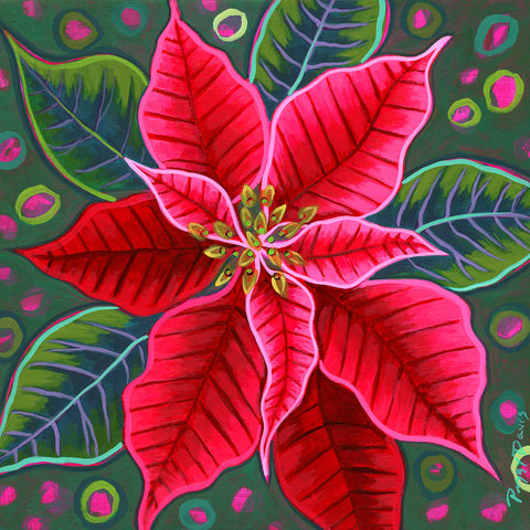 Red Poinsettia II -  Peggy Davis - McGaw Graphics