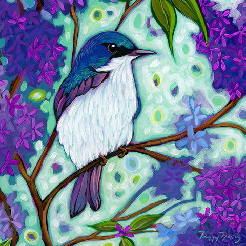 Lilacs & Blue Birds I - McGaw Graphics