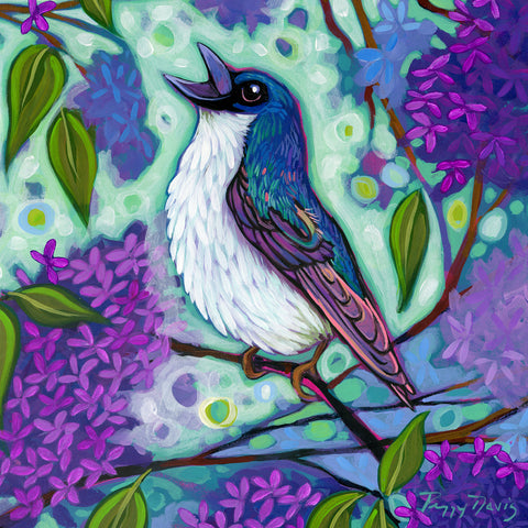 Lilacs & Blue Birds II - McGaw Graphics