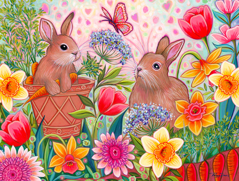 Two Bunnies - McGaw Graphics