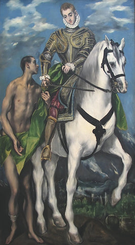 Saint Martin and the Begger 1597-99 -  El Greco - McGaw Graphics
