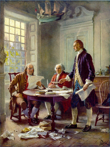 Jean Leon Gerome Ferris - Writing the Declaration of Independence, 1776