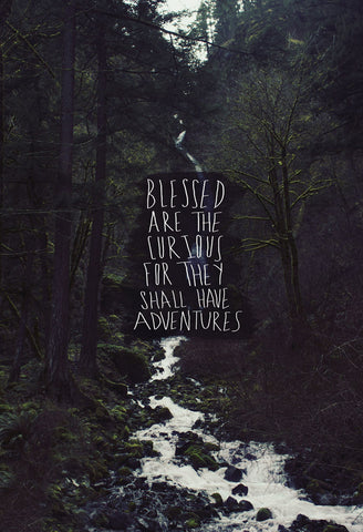 Blessed Are The Curious For They Shall Have Adventures -  Leah Flores - McGaw Graphics