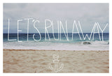 Let's Run Away: Sandy Beach, Hawaii -  Leah Flores - McGaw Graphics