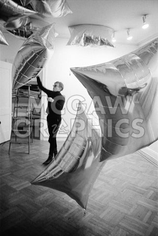 Silver Clouds Installation, Leo Castelli Gallery, NYC, 1966