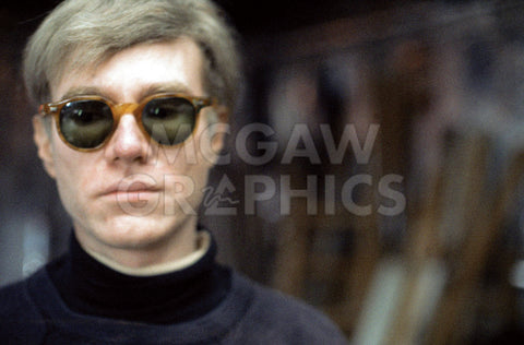 Andy Warhol at the Factory, circa 1966 (Color Factory #5) -  Andy Warhol/ Nat Finkelstein - McGaw Graphics