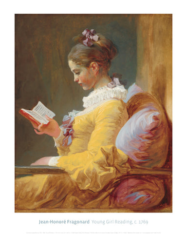 Young Girl Reading, c. 1769 -  Jean-Honore Fragonard - McGaw Graphics