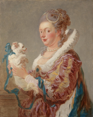 A Woman with a Dog, ca. 1769 -  Jean-Honore Fragonard - McGaw Graphics
