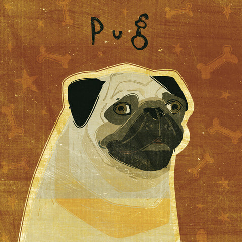 Pug (square) -  John W. Golden - McGaw Graphics