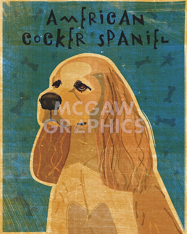 American Cocker Spaniel (buff) -  John W. Golden - McGaw Graphics