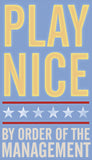 Play Nice -  John W. Golden - McGaw Graphics