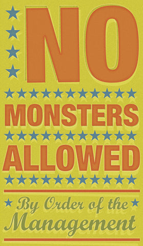 No Monsters Allowed -  John W. Golden - McGaw Graphics
