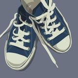 Lowtops (blue on gray) -  John W. Golden - McGaw Graphics