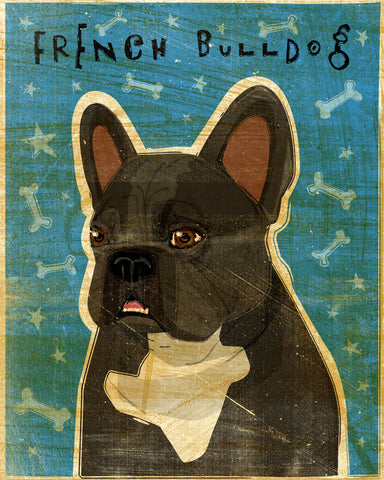 French Bulldog (Black and White) -  John W. Golden - McGaw Graphics