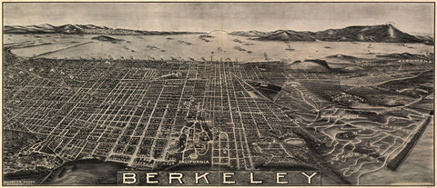 Berkeley, California, 1909 -  Charles Green - McGaw Graphics