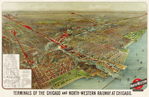 Geo H. Walker and Co. - Terminals of the Chicago and North-Western Railway at Chicago, 1902