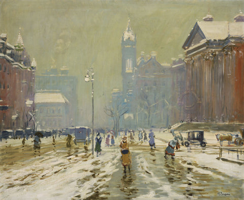Copley Square, Boston, about 1908 -  Arthur Clifton Goodwin - McGaw Graphics