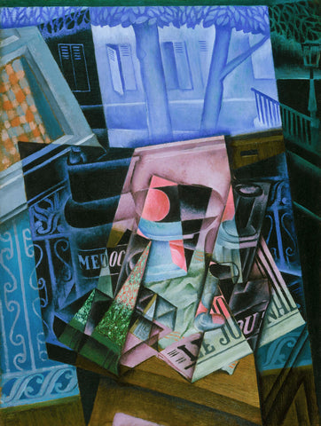 Juan Gris - Still Life before an Open Window, Place Ravignan, 1915