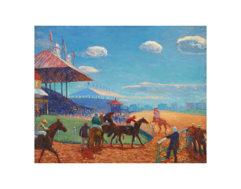 Race Track, 1908-1909 -  William James Glackens - McGaw Graphics