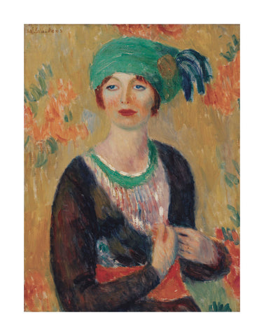 Girl in Green Turban, 1913 -  William James Glackens - McGaw Graphics