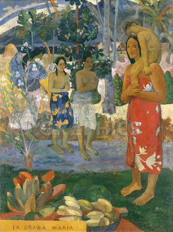 Ia Orana Maria (Hail Mary), 1891 -  Paul Gauguin - McGaw Graphics