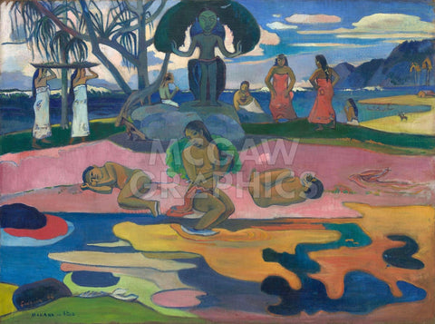 Day of the God (Mahana no Atua), 1894 -  Paul Gauguin - McGaw Graphics