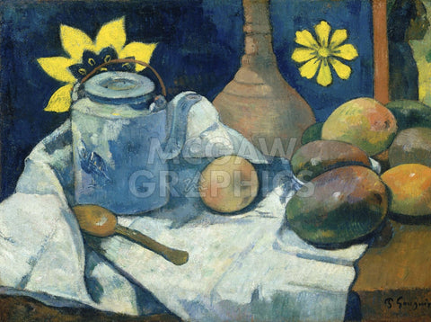 Still Life with Teapot and Fruit, 1896 -  Paul Gauguin - McGaw Graphics