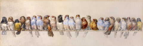 Hector Giacomelli - A Perch of Birds, ca. 1880s
