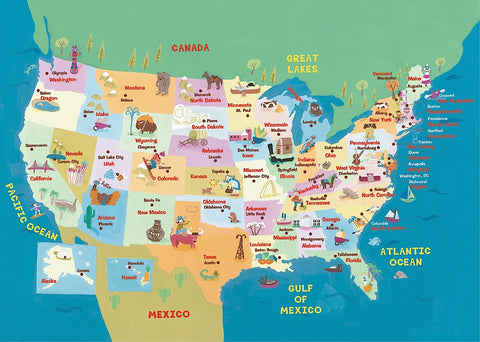 USA States and Capitals -  Janell Genovese - McGaw Graphics