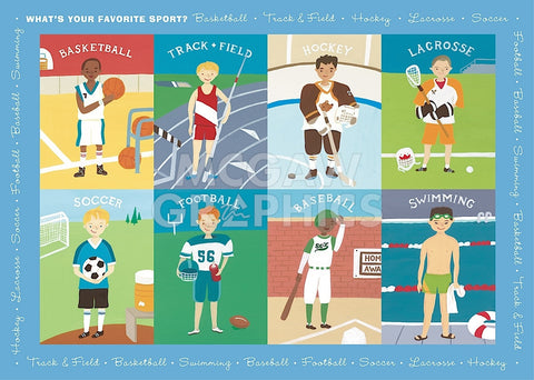 What's Your Favorite Sport? -  Janell Genovese - McGaw Graphics